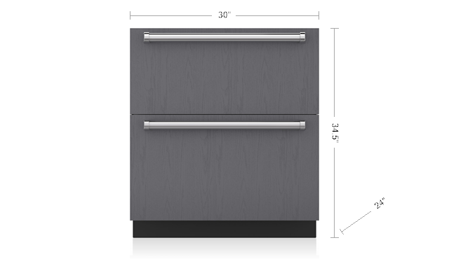 "Model: ID-30F | Sub-Zero 30"" Designer Freezer Drawers - Panel Ready"