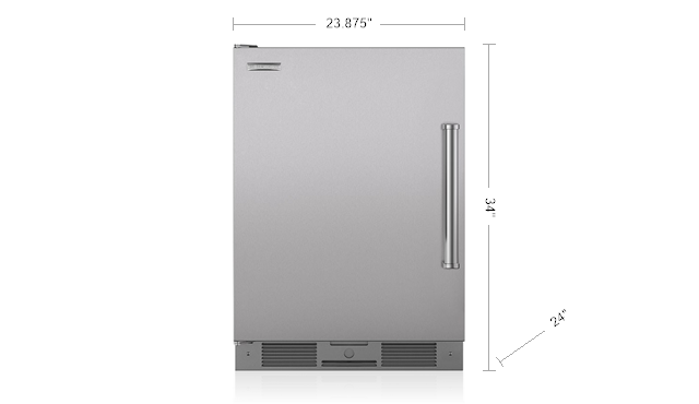 "Model: UC-24RO/PH-LH | Sub-Zero Legacy Model - 24"" Outdoor Undercounter Refrigerator - Stainless Door"