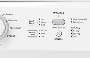 Model: FFLE3900UW | Frigidaire Electric Washer/Dryer Laundry Center - 3.9 Cu. Ft Washer and 5.5 Cu. Ft. Dryer