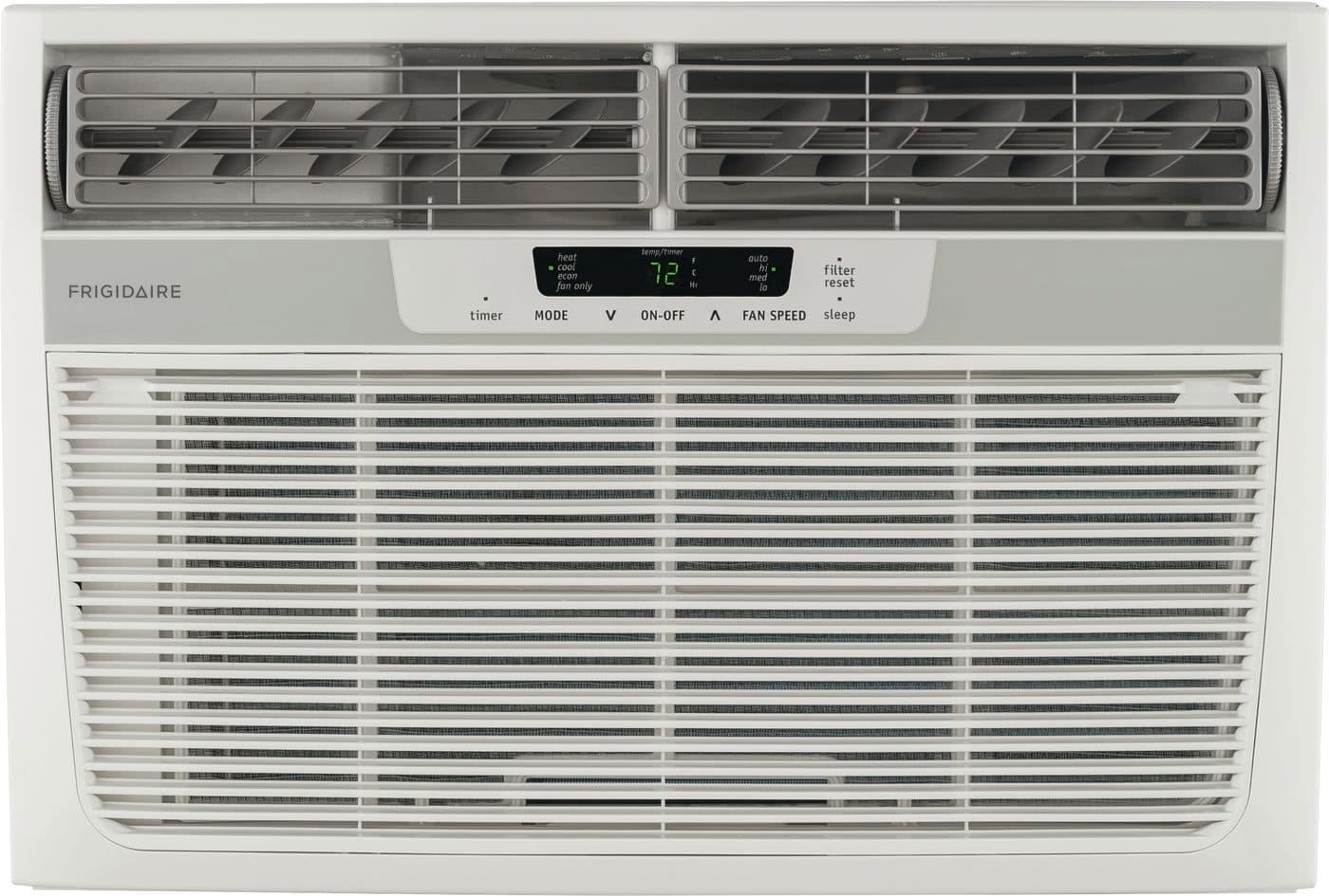 Model: FFRH0822Q1   Frigidaire 8,000 BTU Window-Mounted Room Air Conditioner with Supplemental Heat