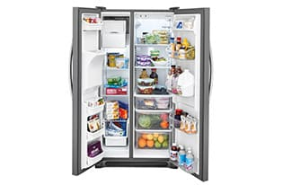 Model: FFSS2615TP | Frigidaire 25.5 Cu. Ft. Side-by-Side Refrigerator
