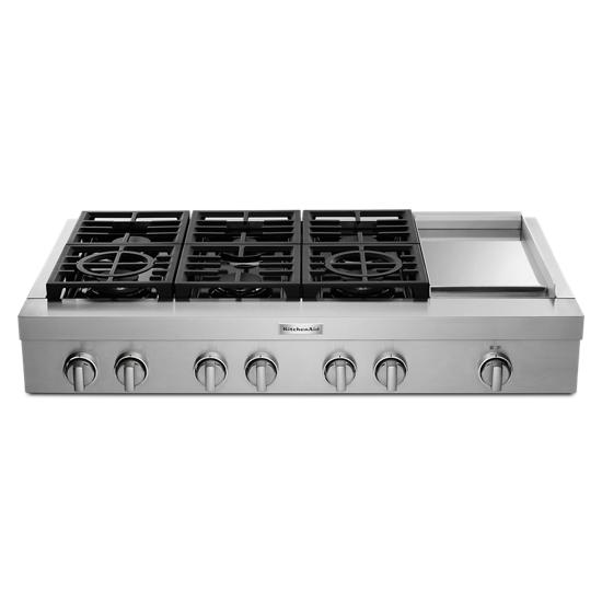 KitchenAid KitchenAid® 48'' 6-Burner Commercial-Style Gas Rangetop with Griddle
