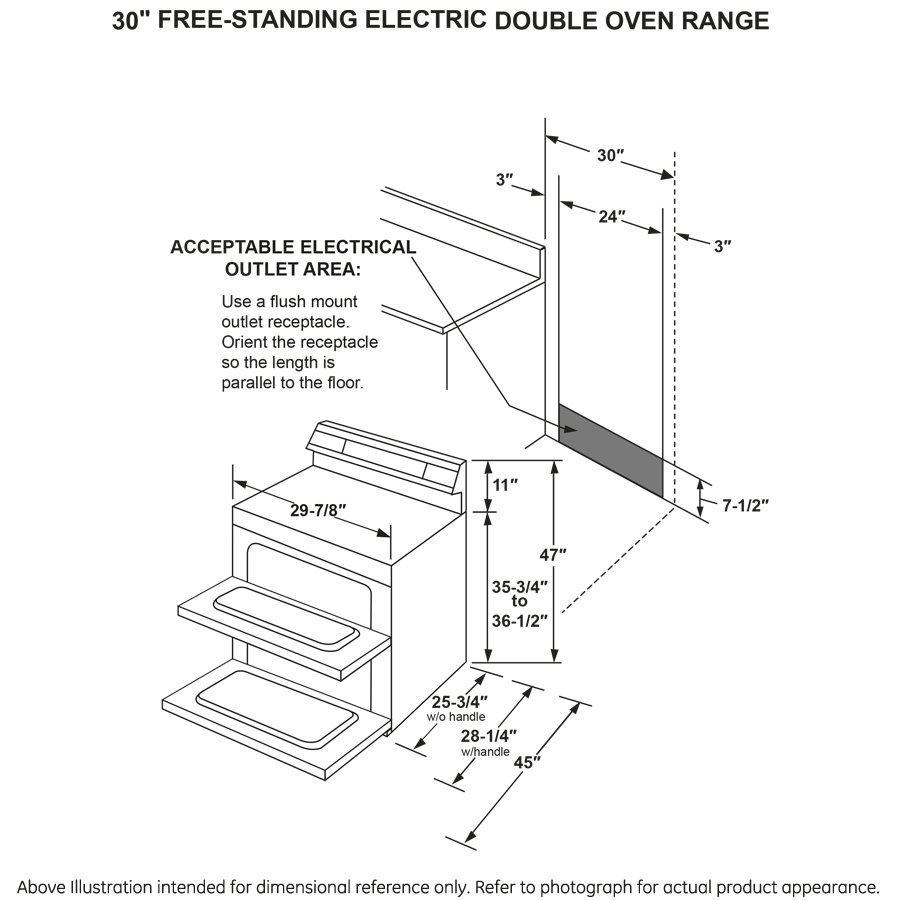 """Profile GE Profile™ 30"""" Free-Standing Electric Double Oven Convection Range"""