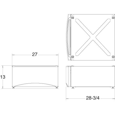Model: SBSD137HWW | GE Laundry Front Load Pedestal