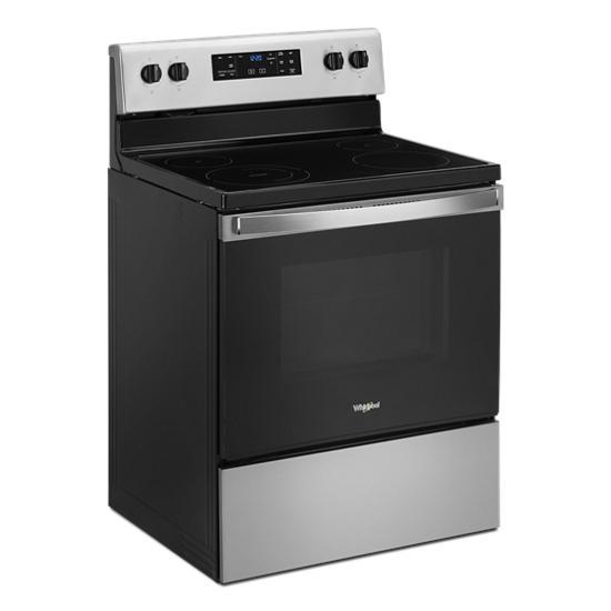 Model: WFE515S0JS | Whirlpool 5.3 cu. ft. Whirlpool® electric range with Frozen Bake™ technology