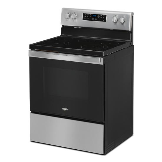 Model: WFE535S0JS | Whirlpool 5.3 cu. ft. Whirlpool® electric range with Frozen Bake™ technology
