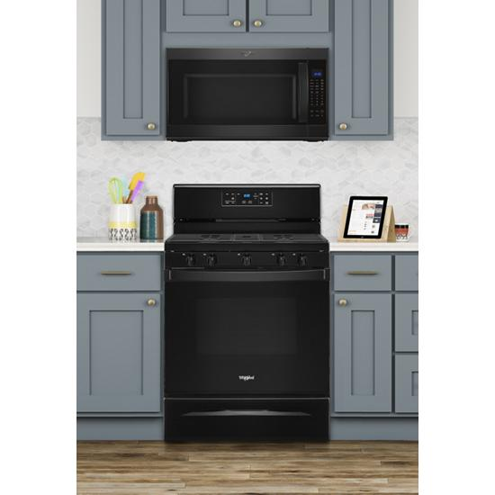Model: WFG525S0JB | Whirlpool 5.0 cu. ft. Whirlpool® gas range with center oval burner