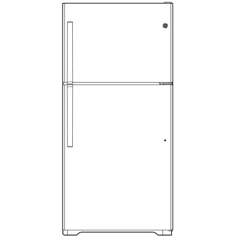 Model: GIE18DTNRBB | GE GE® ENERGY STAR® 17.5 Cu. Ft. Top-Freezer Refrigerator