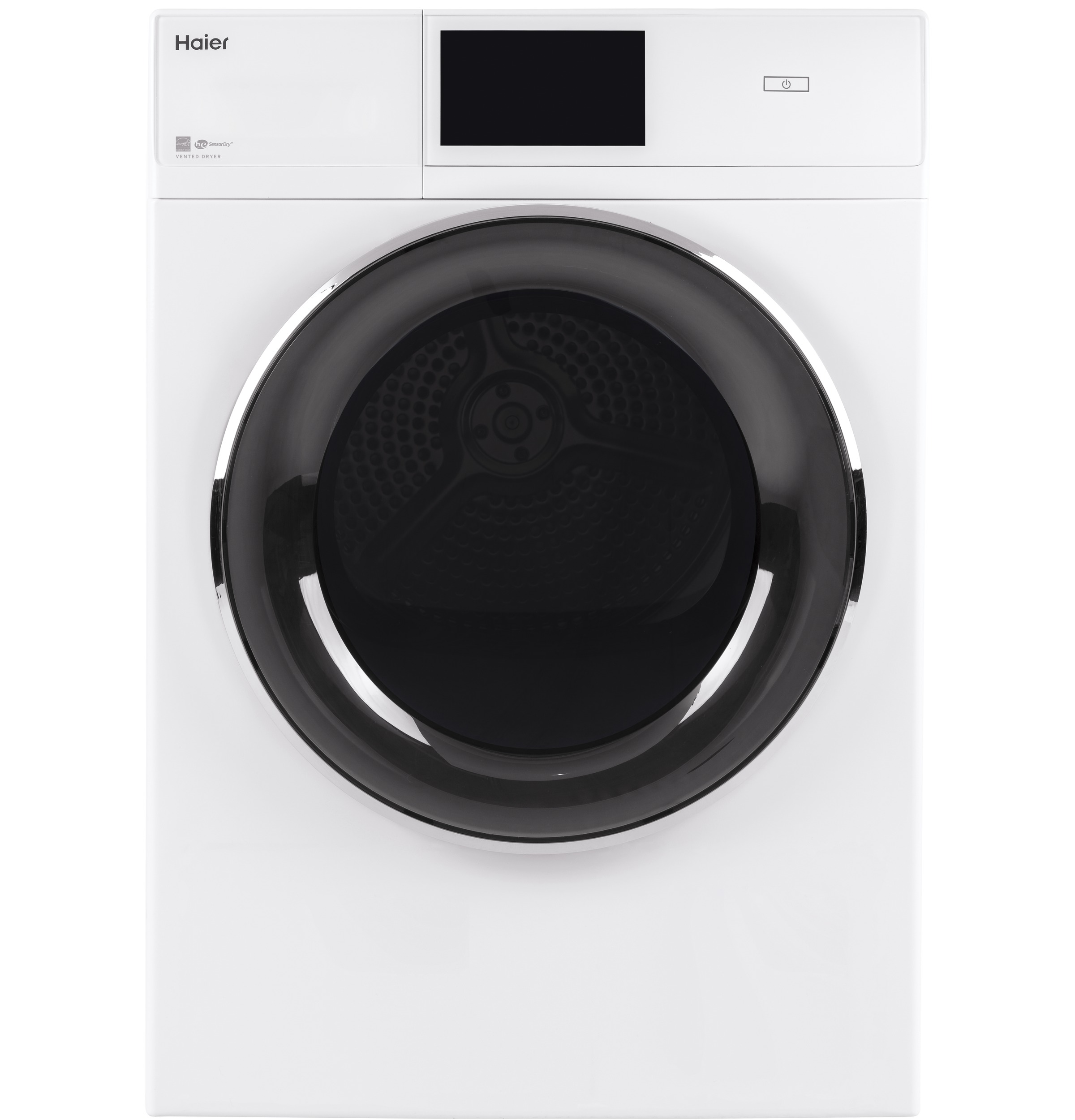 "Haier 4.3 cu.ft. Capacity Smart 24"" Frontload Electric Dryer with Stainless Steel Basket"