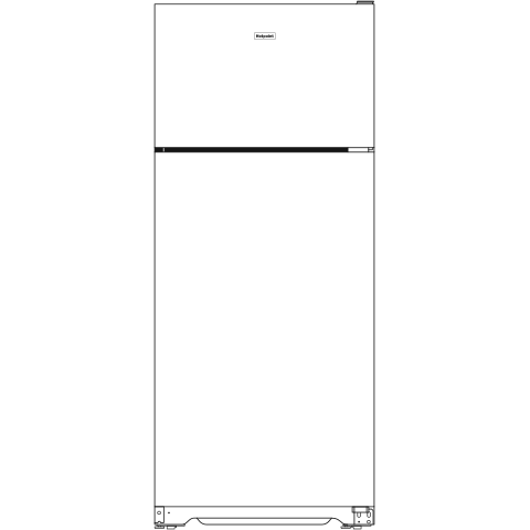Model: HPE16BTNRWW | Hotpoint Hotpoint® ENERGY STAR® 15.6 Cu. Ft. Recessed Handle Top-Freezer Refrigerator