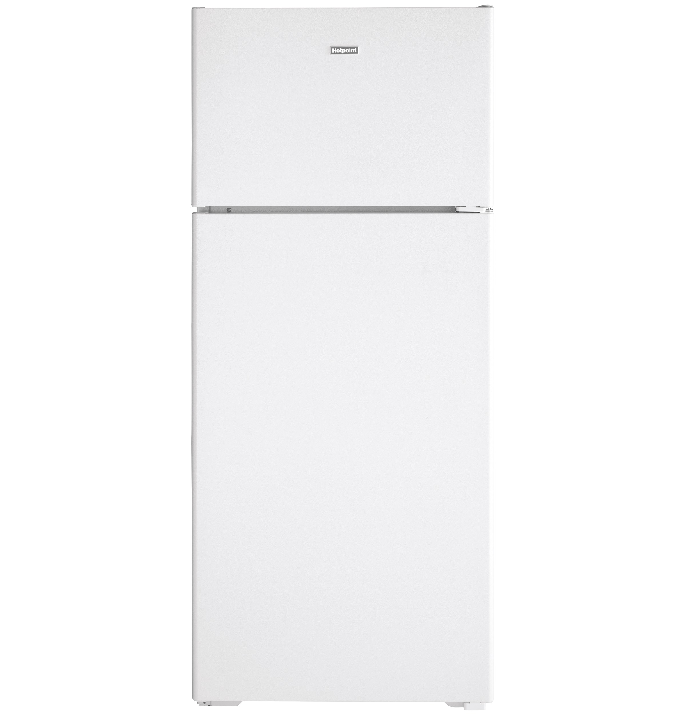 Model: HPS18BTNRWW | Hotpoint Hotpoint® 17.5 Cu. Ft. Recessed Handle Top-Freezer Refrigerator