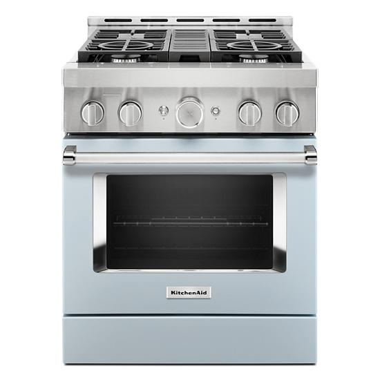KitchenAid® 30'' Smart Commercial-Style Gas Range with 4 Burners