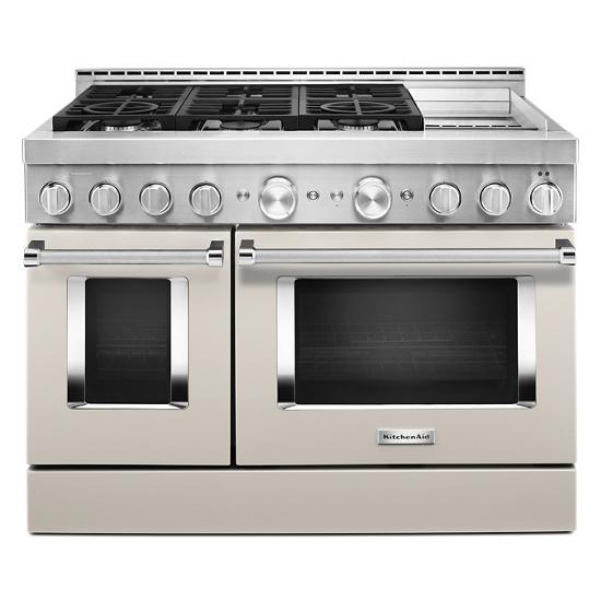KitchenAid KitchenAid® 48'' Smart Commercial-Style Gas Range with Griddle