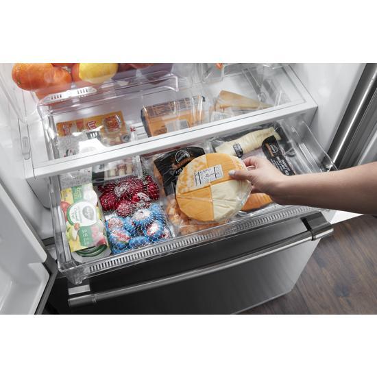 Model: MFF2055FRZ | Maytag 30-Inch Wide French Door Refrigerator - 20 Cu. Ft.