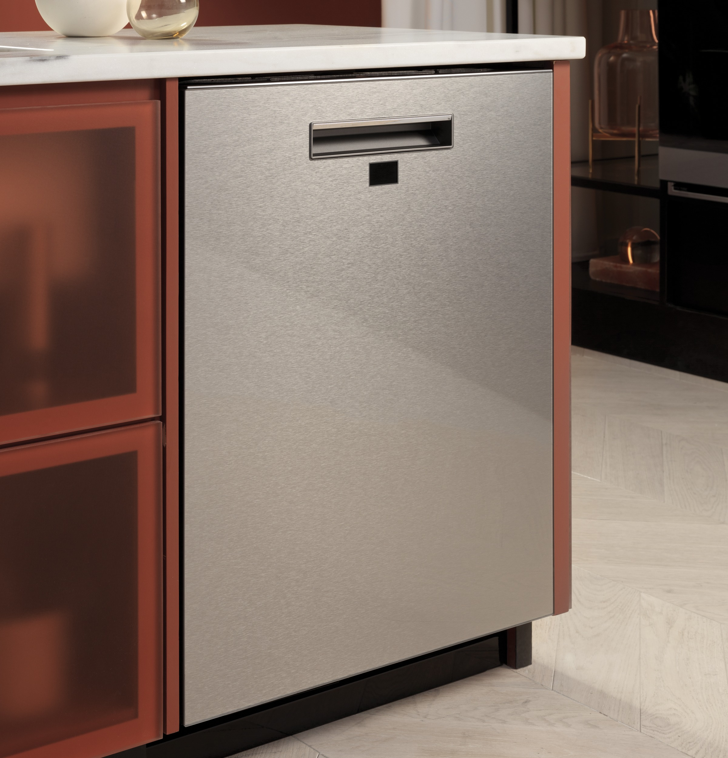 Model: CDT875M5NS5 | Cafe Café™ Smart Stainless Steel Interior Dishwasher with Sanitize and Ultra Wash & Dual Convection Ultra Dry in Platinum Glass