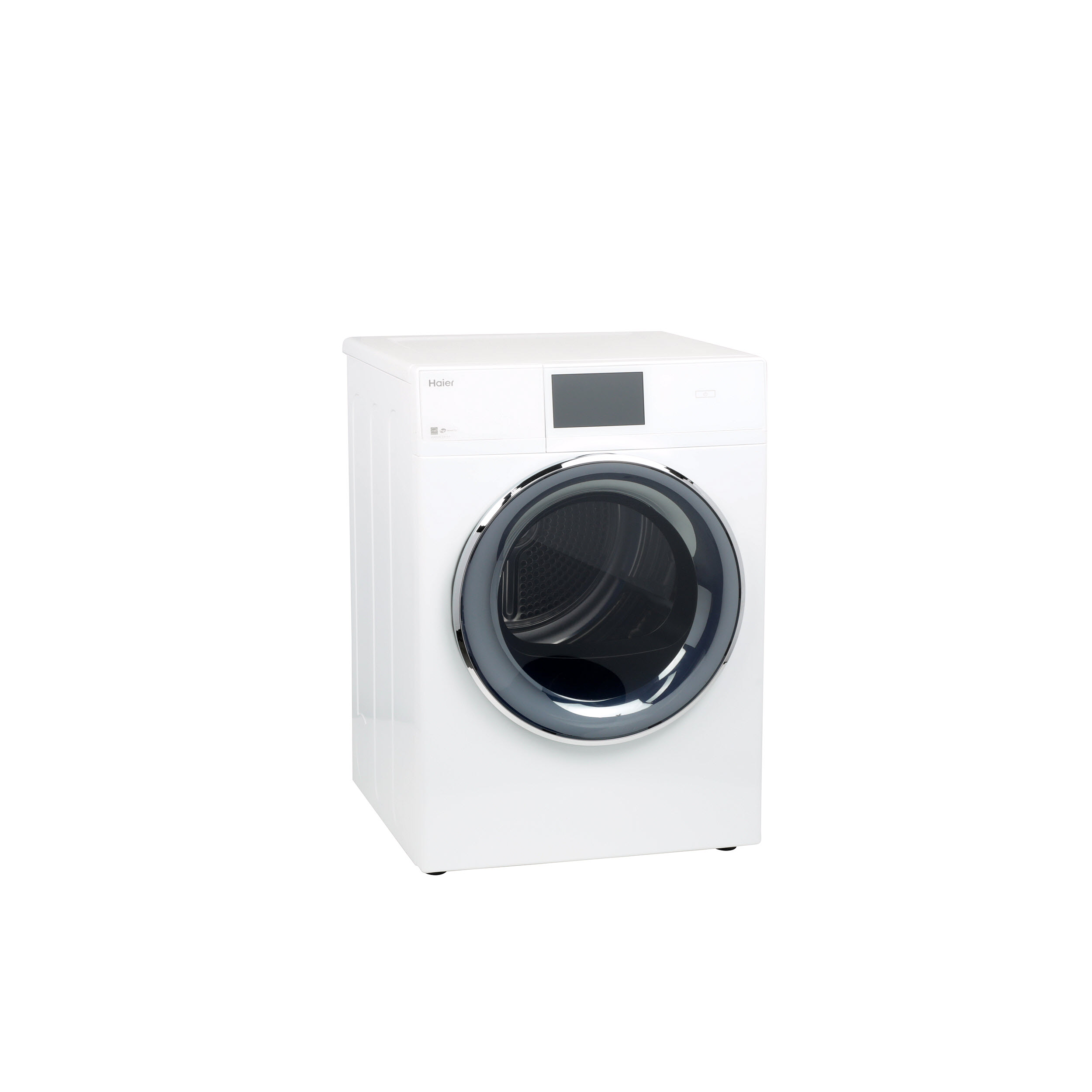 "Model: QFD15ESSNWW | Haier 4.3 cu.ft. Capacity Smart 24"" Frontload Electric Dryer with Stainless Steel Basket"