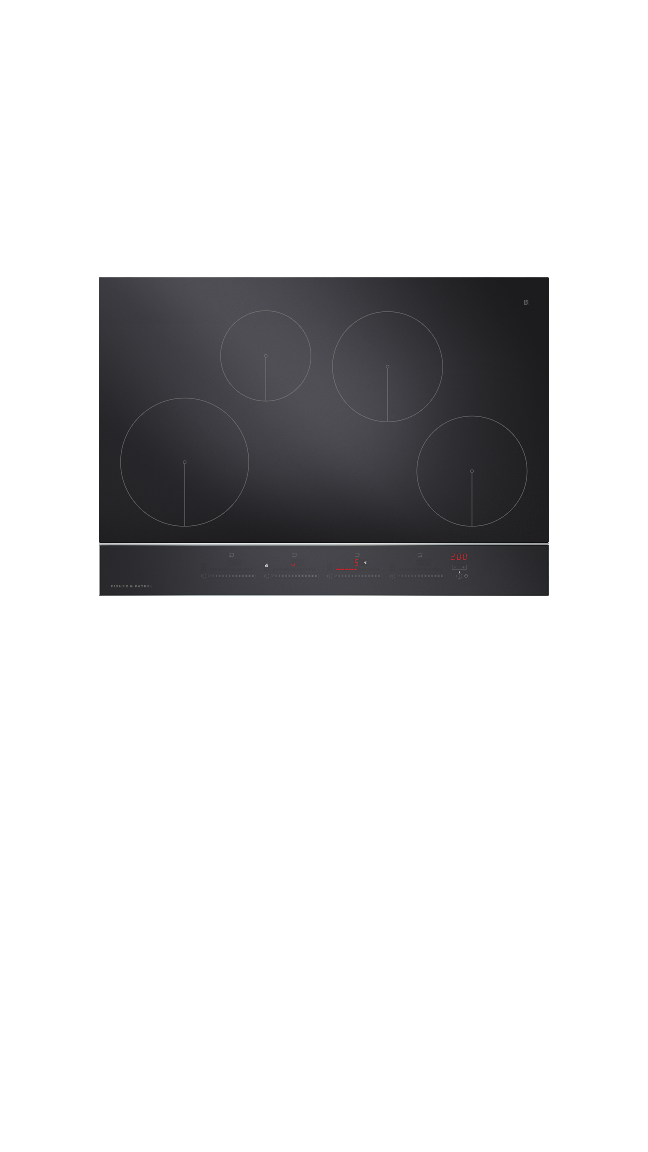 "Model: CI304DTB2_N | Fisher and Paykel Induction Cooktop 30"", 4 Zone"