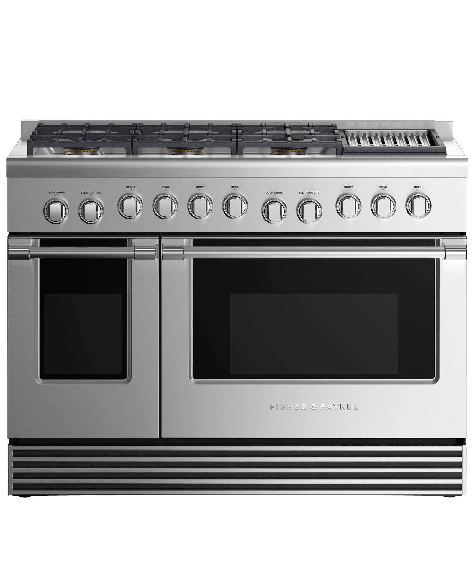 """Fisher and Paykel Gas Range 48"""", 6 Burners with Grill"""