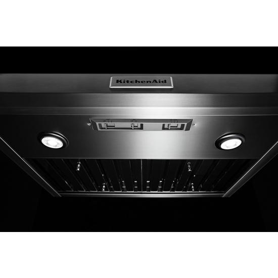 "Model: KVUC600JSS | KitchenAid 30"" 585-1170 CFM Motor Class Commercial-Style Under-Cabinet Range Hood System"