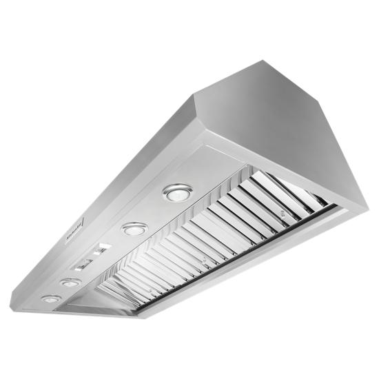 KitchenAid 48'' 585 or 1170 CFM Motor Class Commercial-Style Wall-Mount Canopy Range Hood