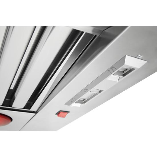 "Model: KVWC956JSS | KitchenAid 36"" 585-1170 CFM Motor Class Commercial-Style Wall-Mount Canopy Range Hood"