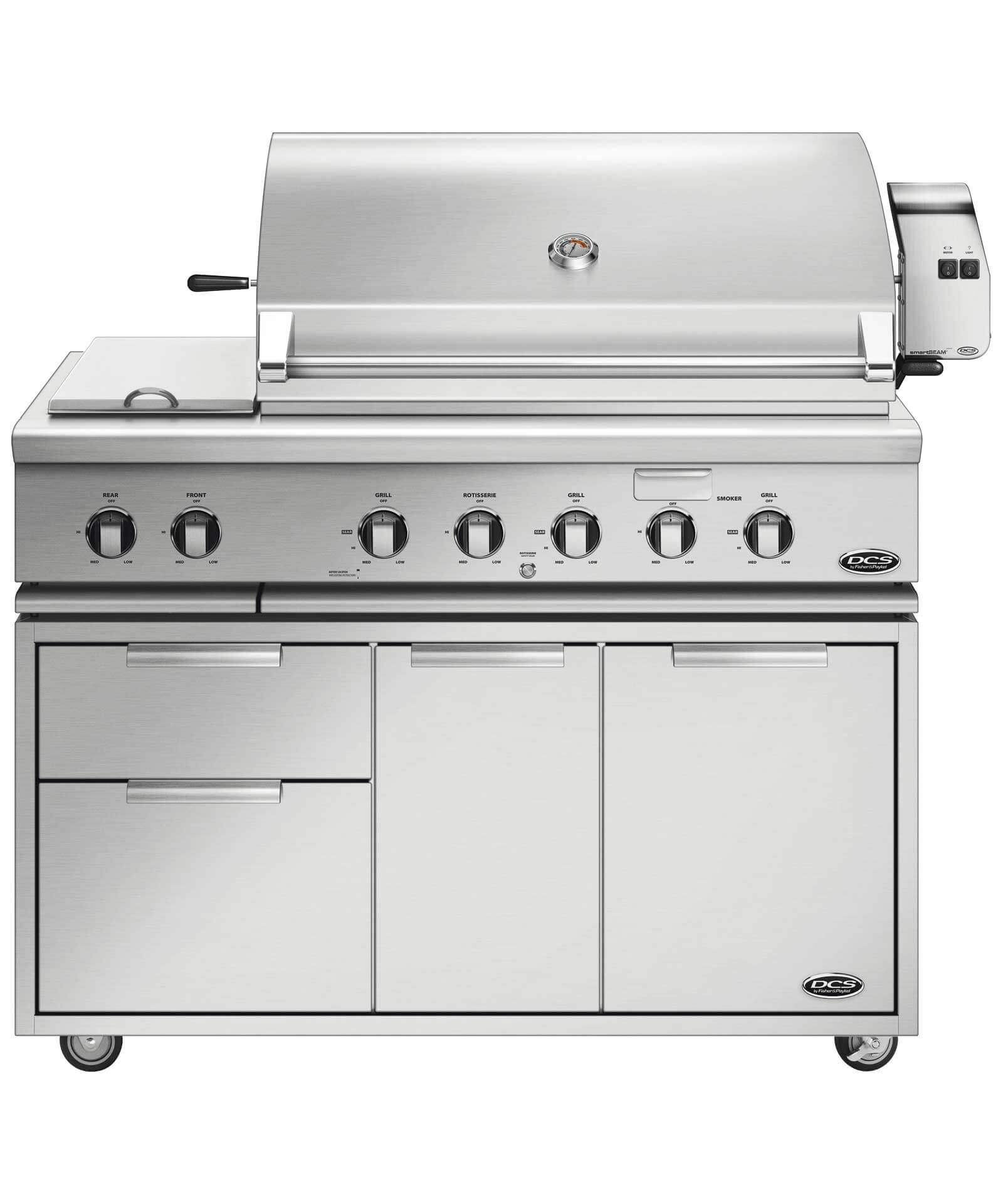 "DCS 48"" Traditional Grill with Rotisserie and Side Burners"