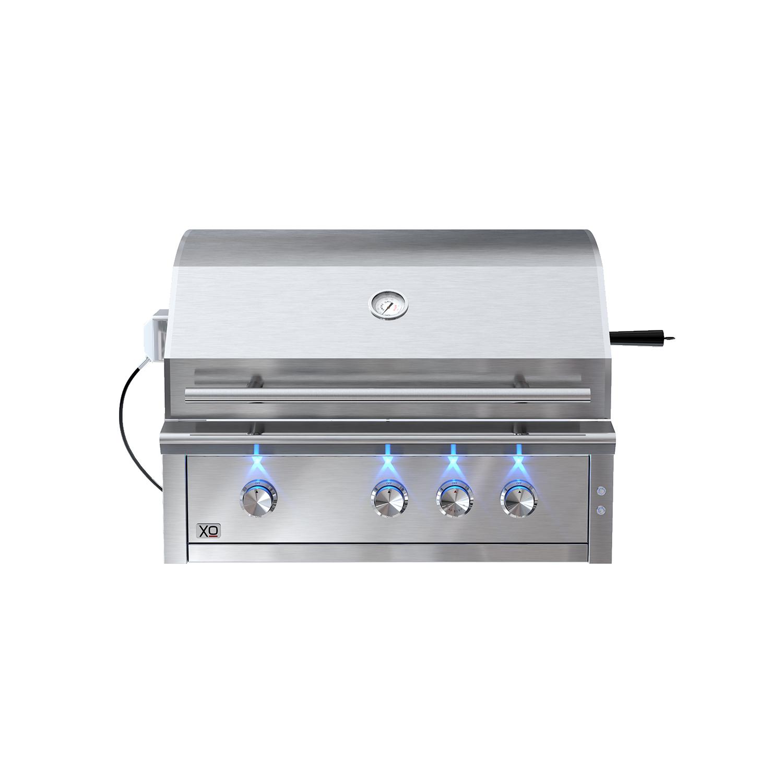 XO Appliances 36 in Grill 3 Burner w/ Rotiss Burner - LP Gas