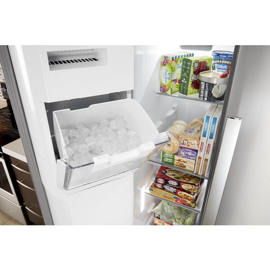 Model: WRS970CIHZ | Whirlpool 36-inch Wide Side-by-Side Counter Depth Refrigerator - 20 cu. ft.