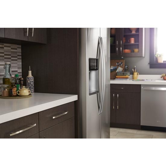Model: WRS970CIHZ   Whirlpool 36-inch Wide Side-by-Side Counter Depth Refrigerator - 20 cu. ft.