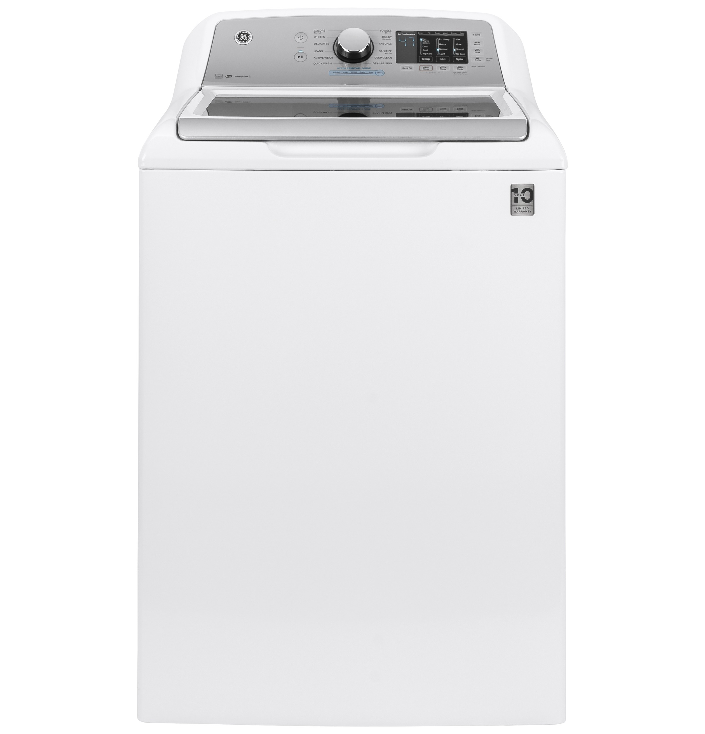 GE GE® 4.8  cu. ft. Capacity Washer with Sanitize w/Oxi and FlexDispense™