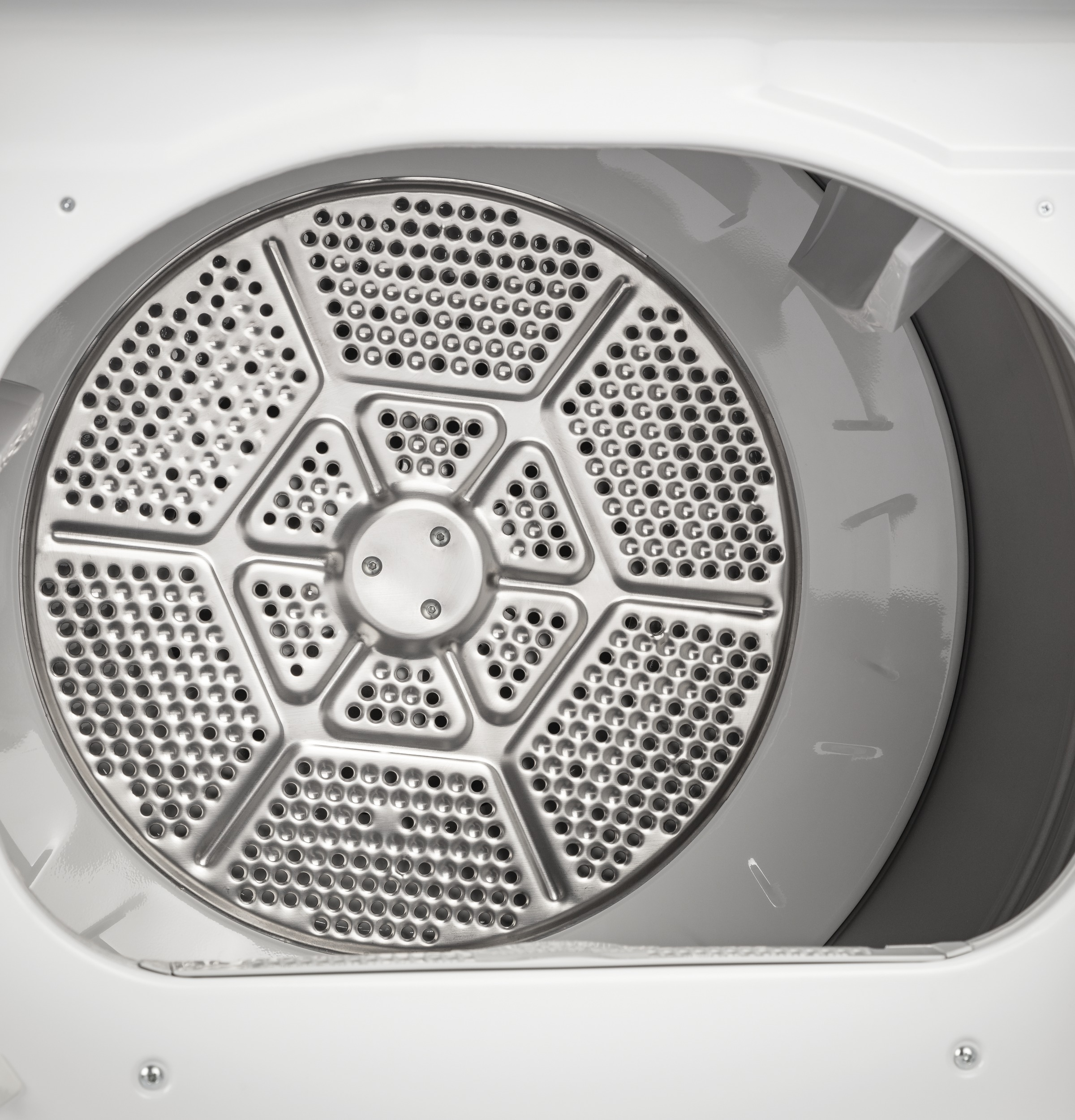 Model: GTD84GCSNWS | GE GE® 7.4 cu. ft. Capacity Smart aluminized alloy drum Gas Dryer with Sanitize Cycle and HE Sensor Dry