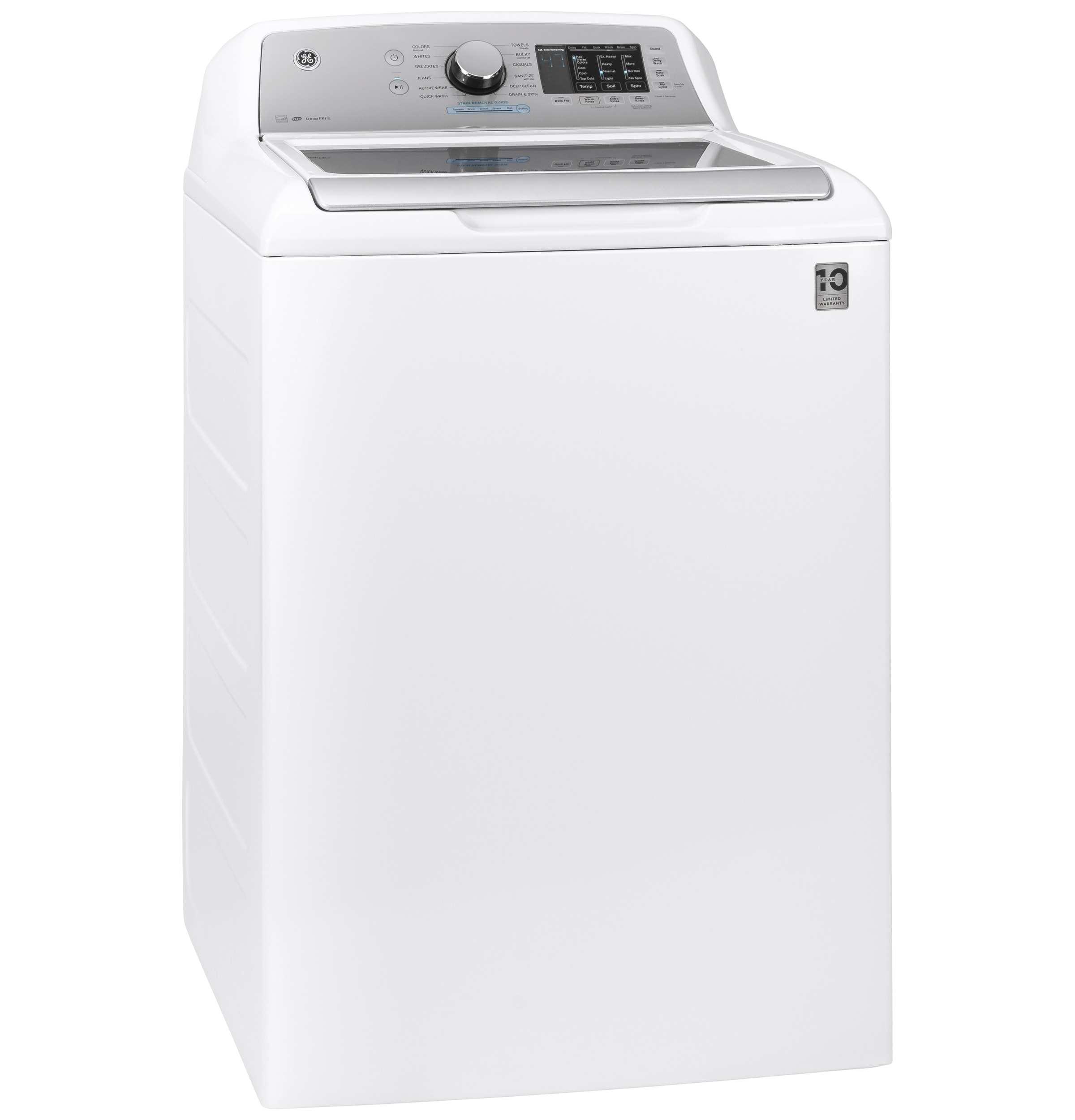 Model: GTW725BSNWS | GE GE® 4.6  cu. ft. Capacity Washer with Sanitize w/Oxi and FlexDispense™