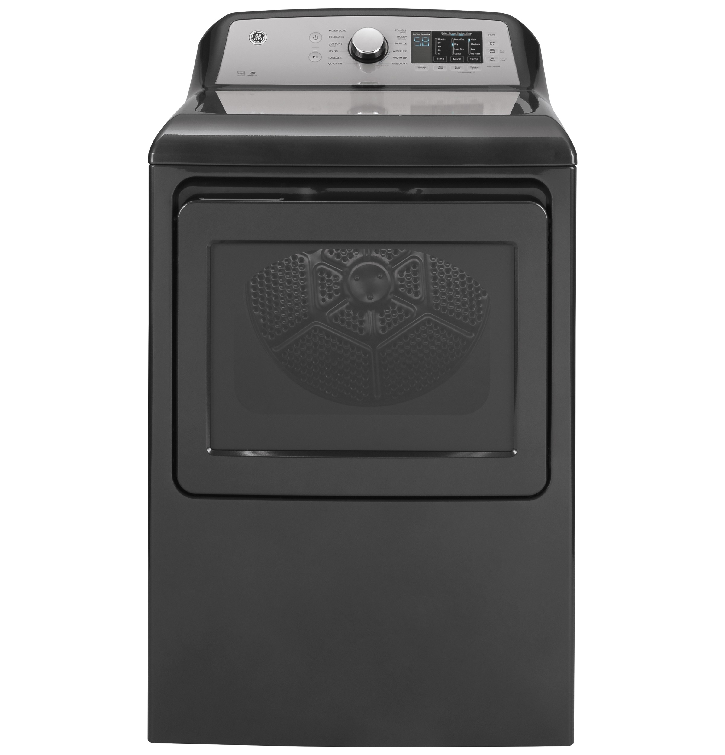 GE GE® 7.4 cu. ft. Capacity aluminized alloy drum Electric Dryer with Sanitize Cycle and HE Sensor Dry