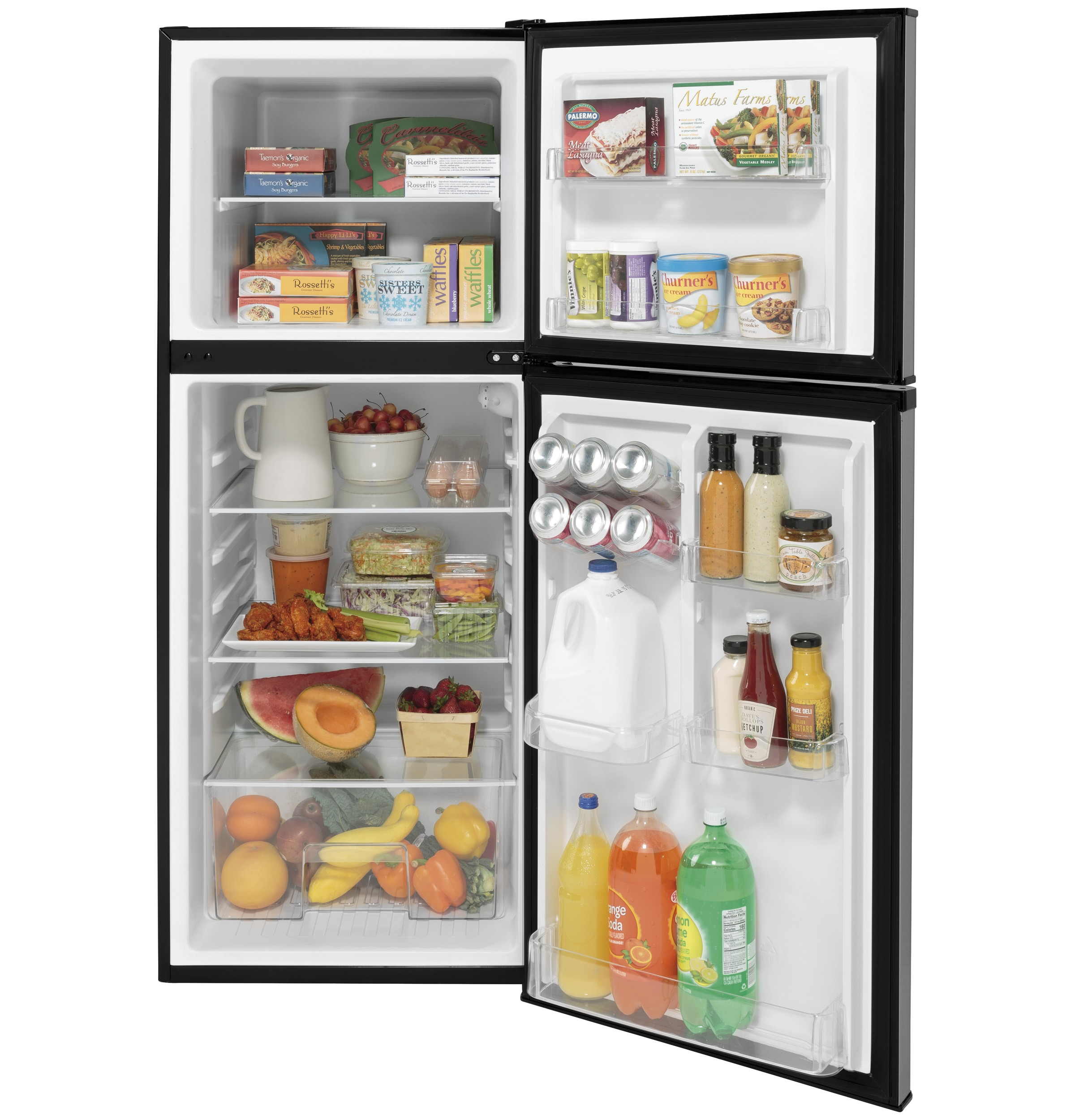 Model: GPV10FSNSB | GE GE® 9.8 Cu. Ft. 12 Volt DC Power Top-Freezer Refrigerator