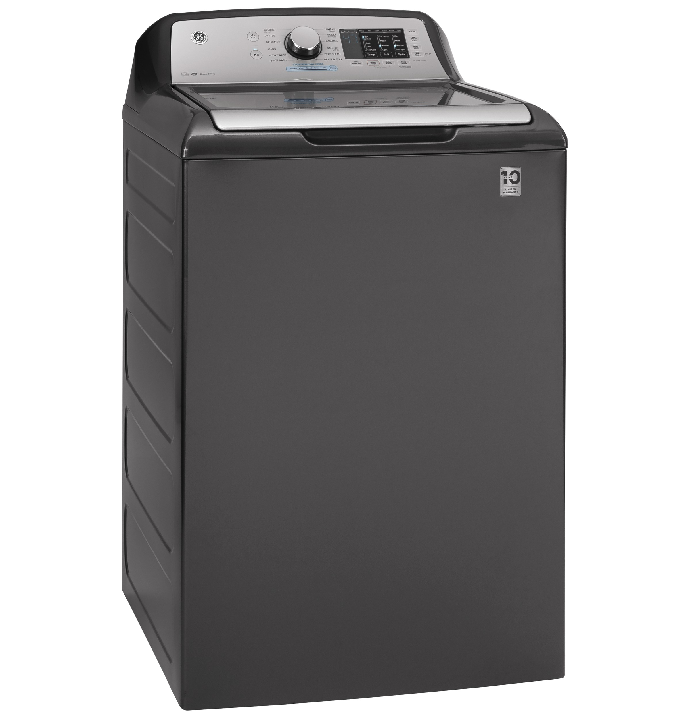 Model: GTW725BPNDG | GE GE® 4.6  cu. ft. Capacity Washer with Tide PODS™ Dispense