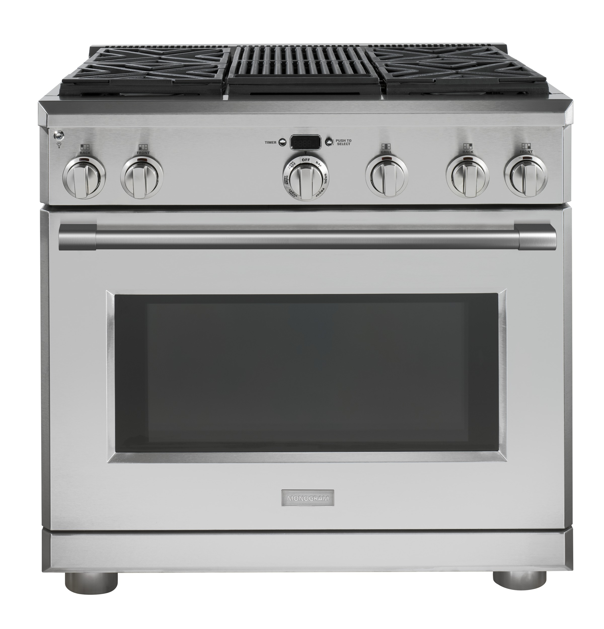 "Monogram Monogram 36"" Dual-Fuel Professional Range with 4 Burners and Grill (Natural Gas)"