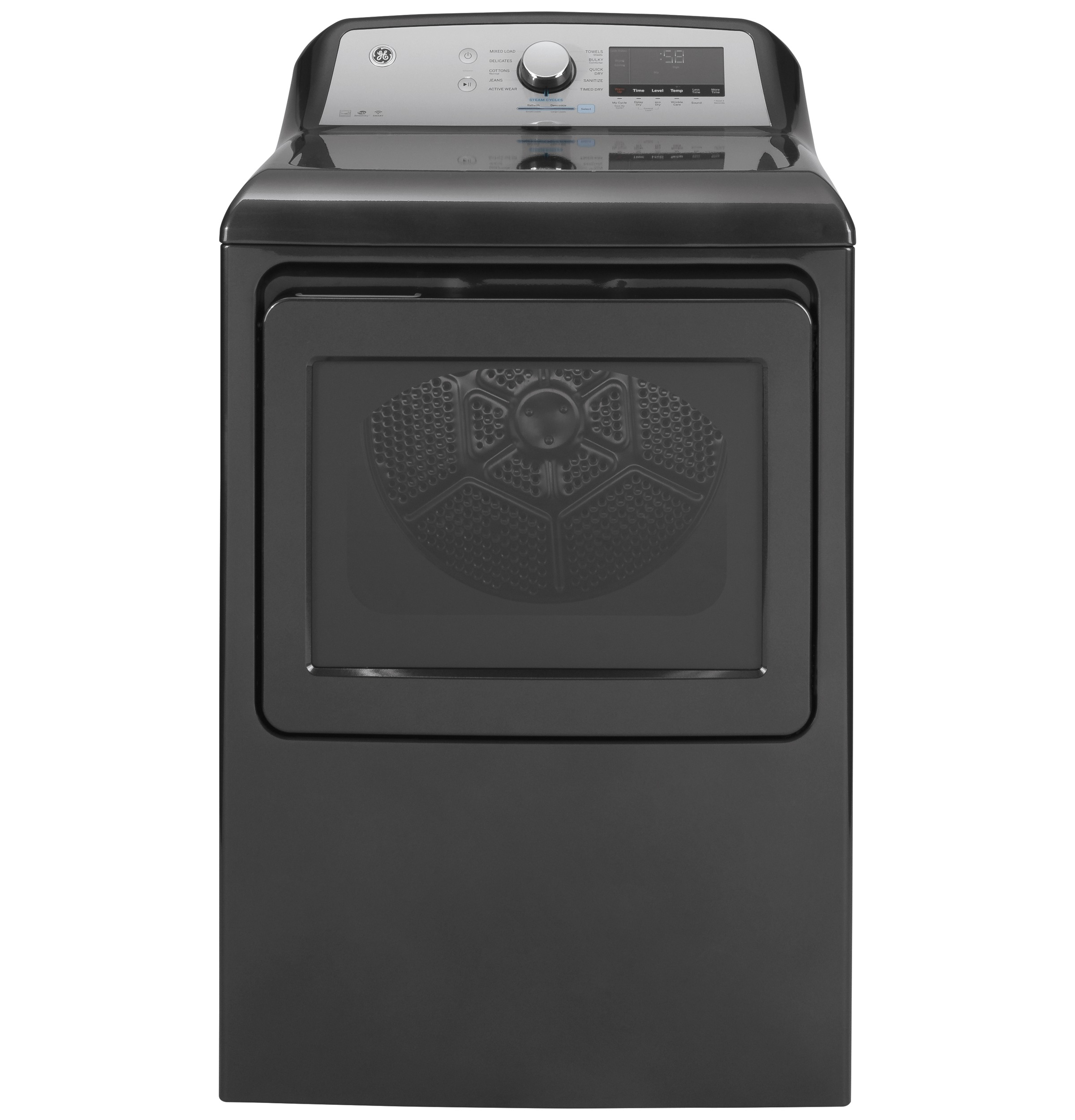 GE GE® 7.4 cu. ft. Capacity Smart aluminized alloy drum Electric Dryer with Sanitize Cycle and Sensor Dry