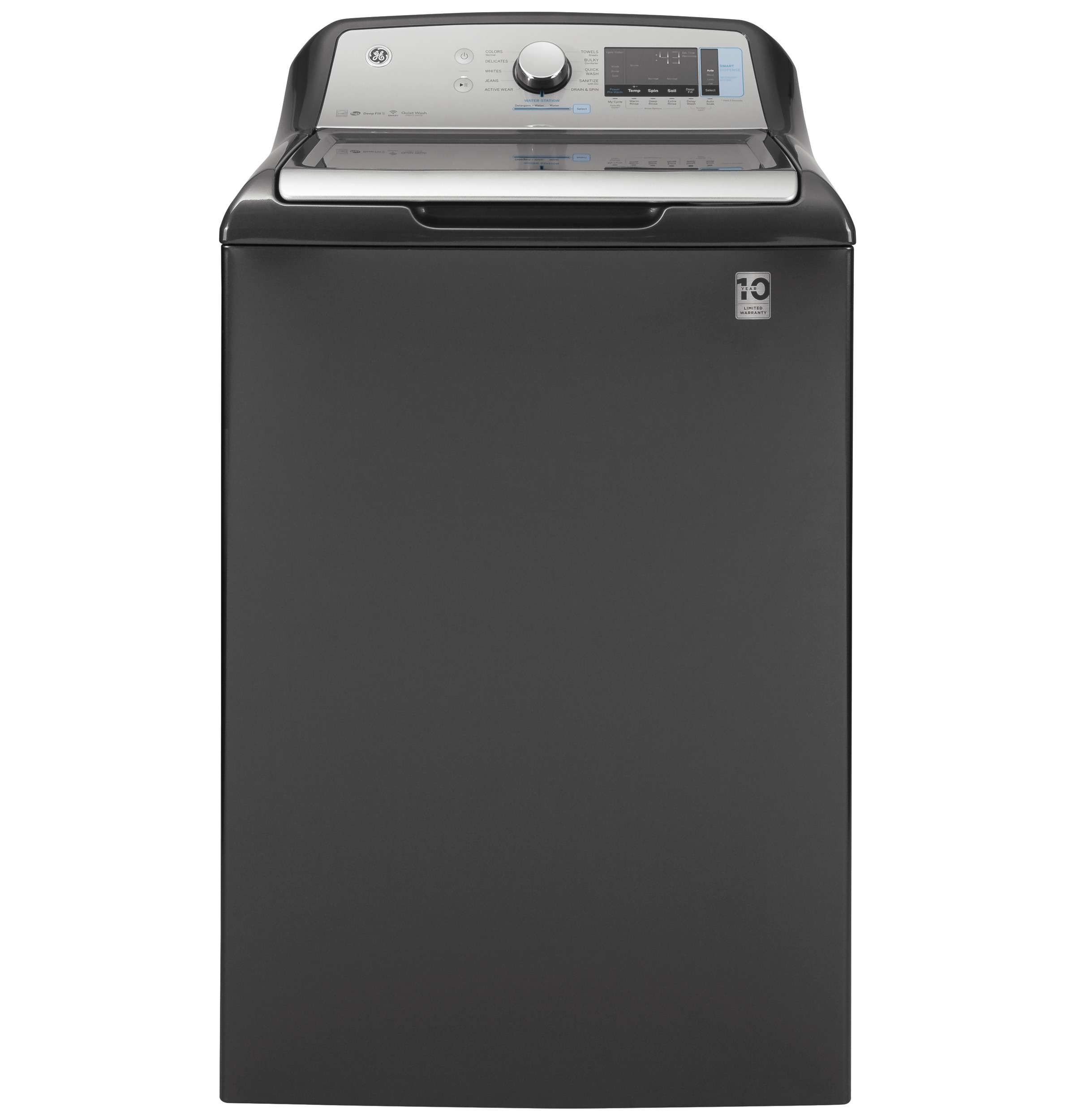 GE GE® 5.0  cu. ft. Capacity Smart Washer with Sanitize w/Oxi and SmartDispense