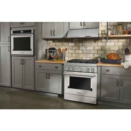 Model: KFGC500JMH   KitchenAid KitchenAid® 30'' Smart Commercial-Style Gas Range with 4 Burners