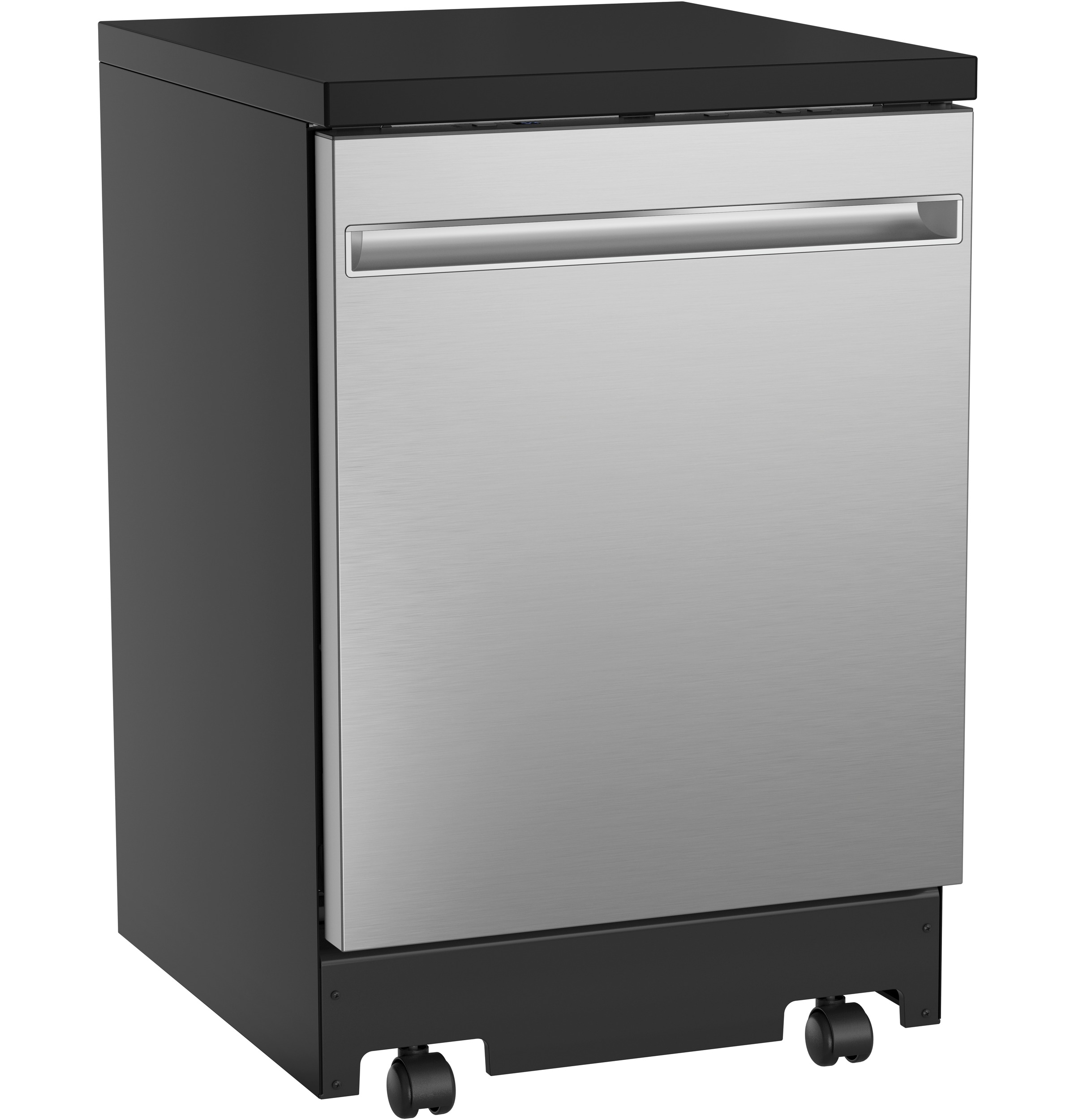 "GE GE® 24"" Stainless Steel Interior Portable Dishwasher with Sanitize Cycle"