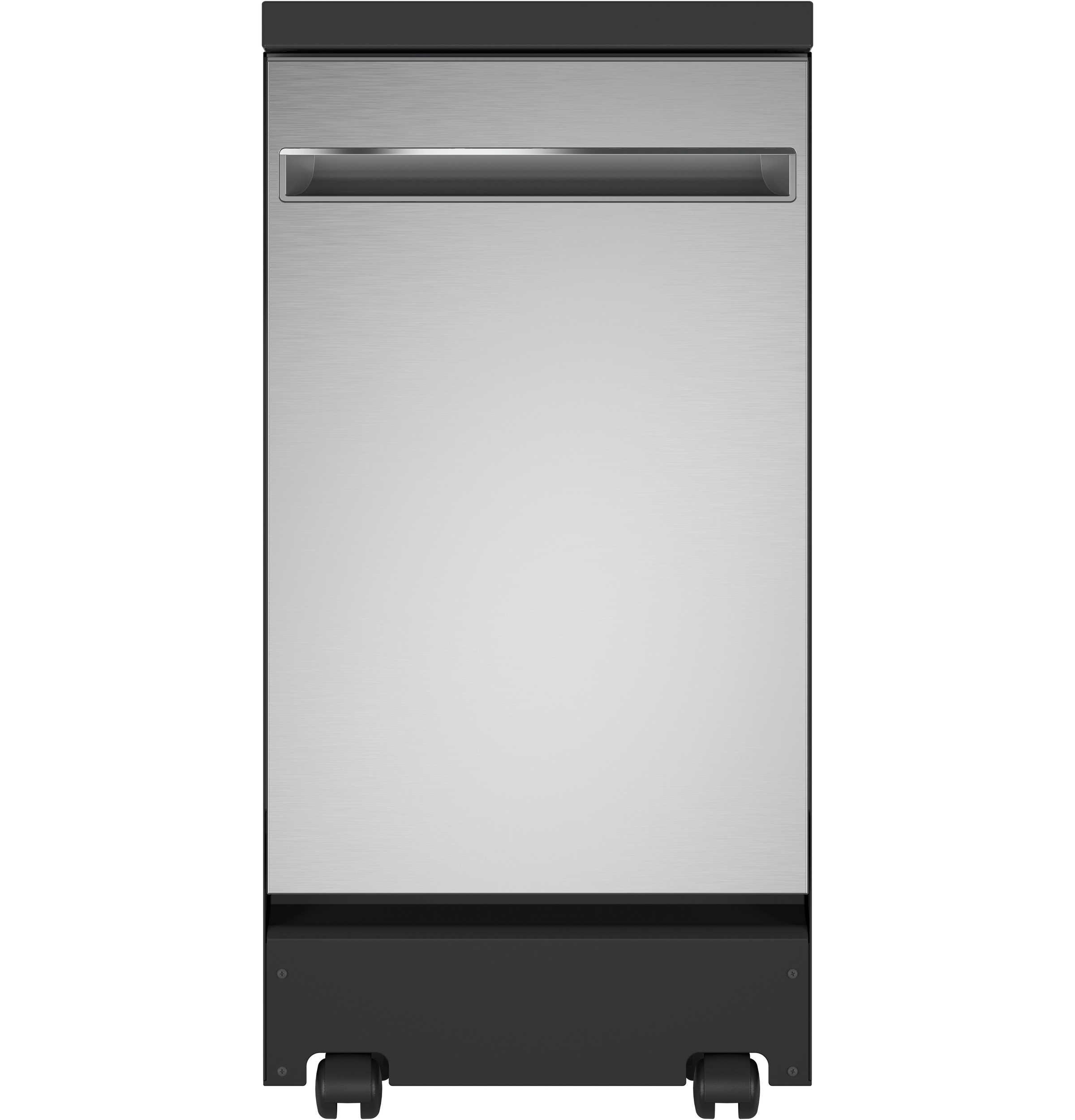 "Model: GPT145SSLSS | GE GE® 18"" Stainless Steel Interior Portable Dishwasher with Sanitize Cycle"