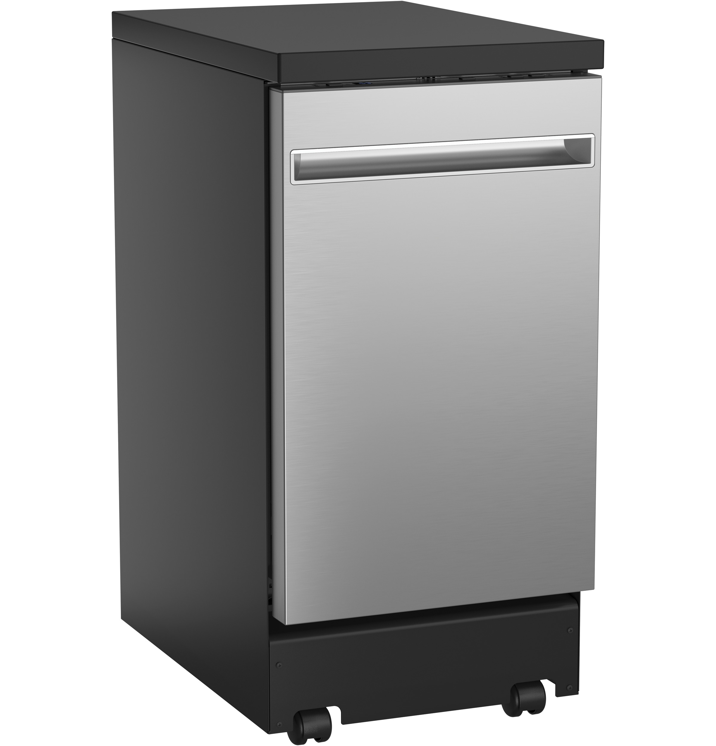 "GE GE® 18"" Stainless Steel Interior Portable Dishwasher with Sanitize Cycle"