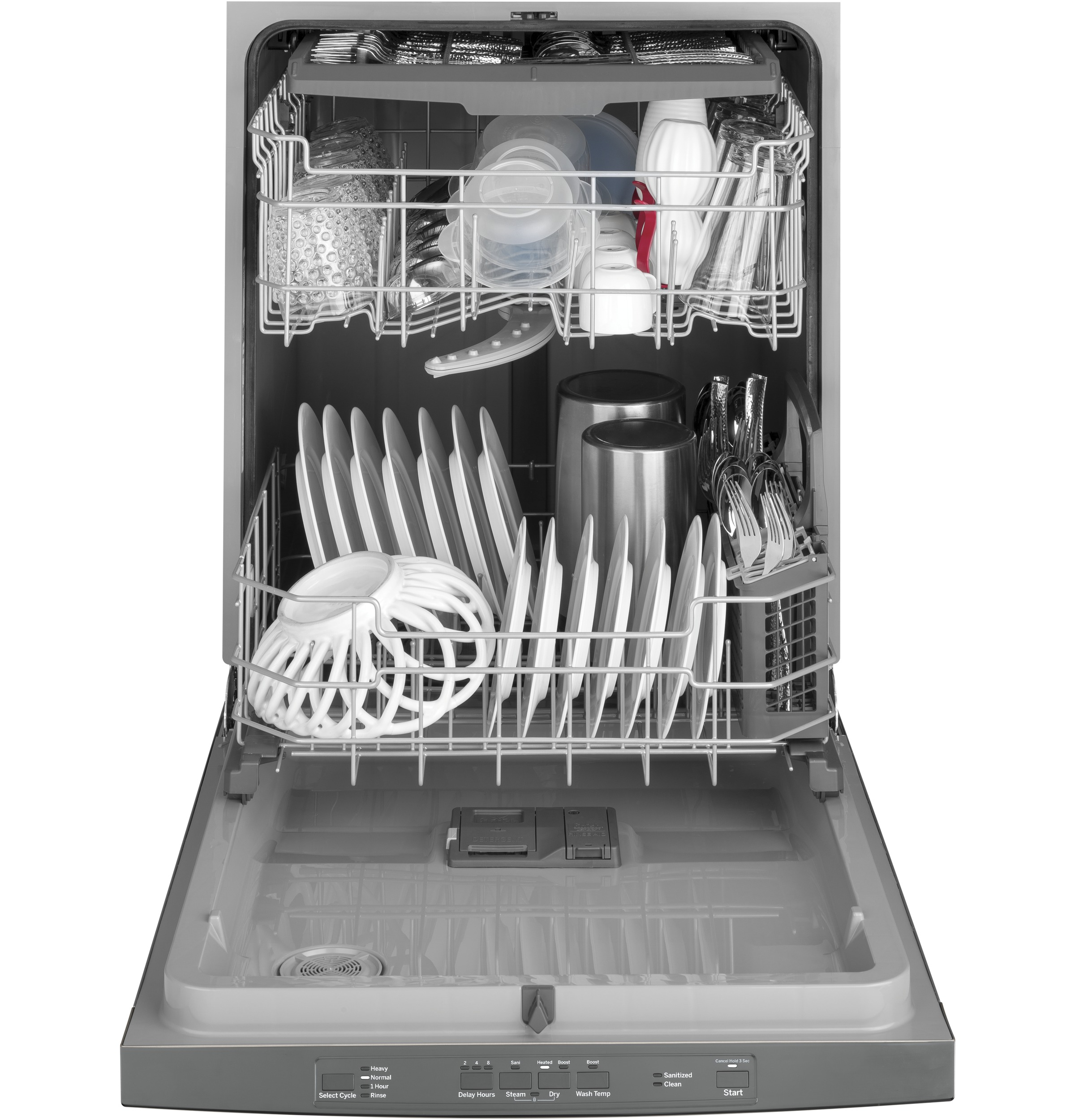 Model: GDT630PSMSS | GE GE® Top Control with Plastic Interior Dishwasher with Sanitize Cycle & Dry Boost