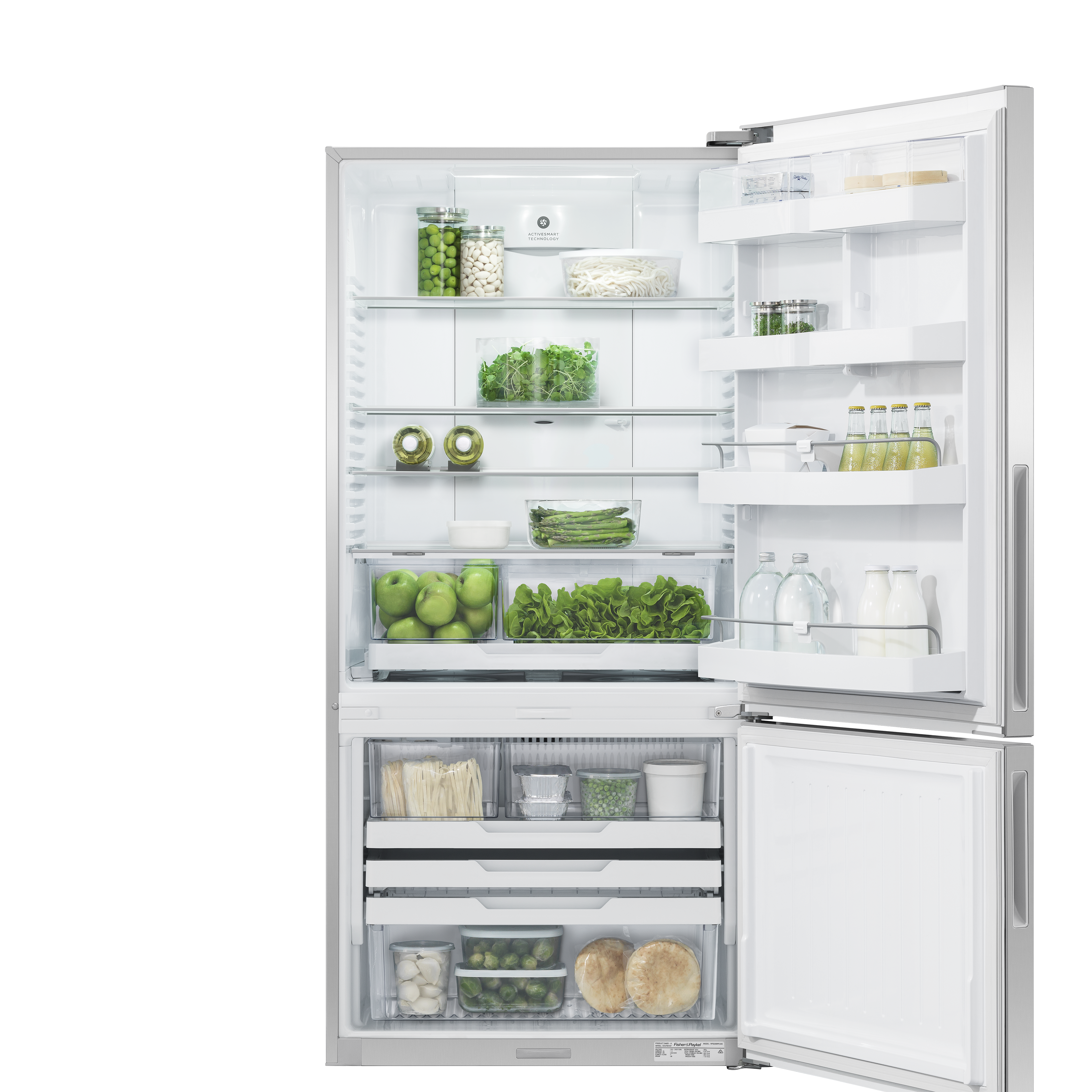 Model: RF170BRPX6N   Fisher and Paykel Counter Depth Refrigerator 17.5 cu ft