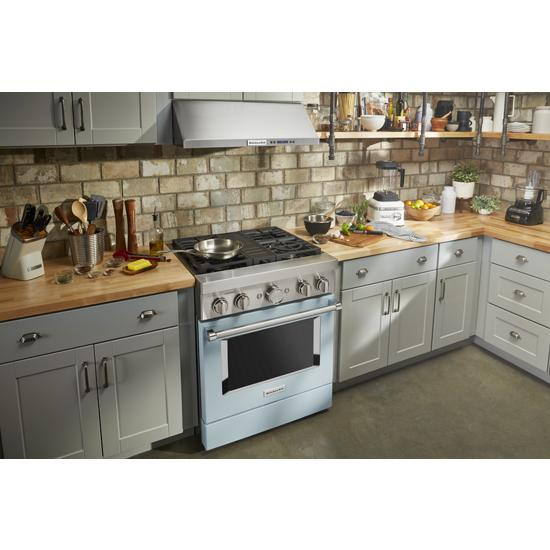 Model: KFGC500JMB | KitchenAid KitchenAid® 30'' Smart Commercial-Style Gas Range with 4 Burners