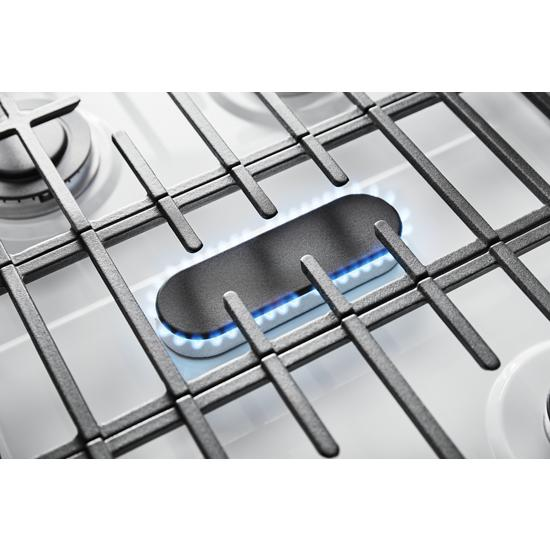 Model: WFG525S0JW | Whirlpool 5.0 cu. ft. Whirlpool® gas range with center oval burner