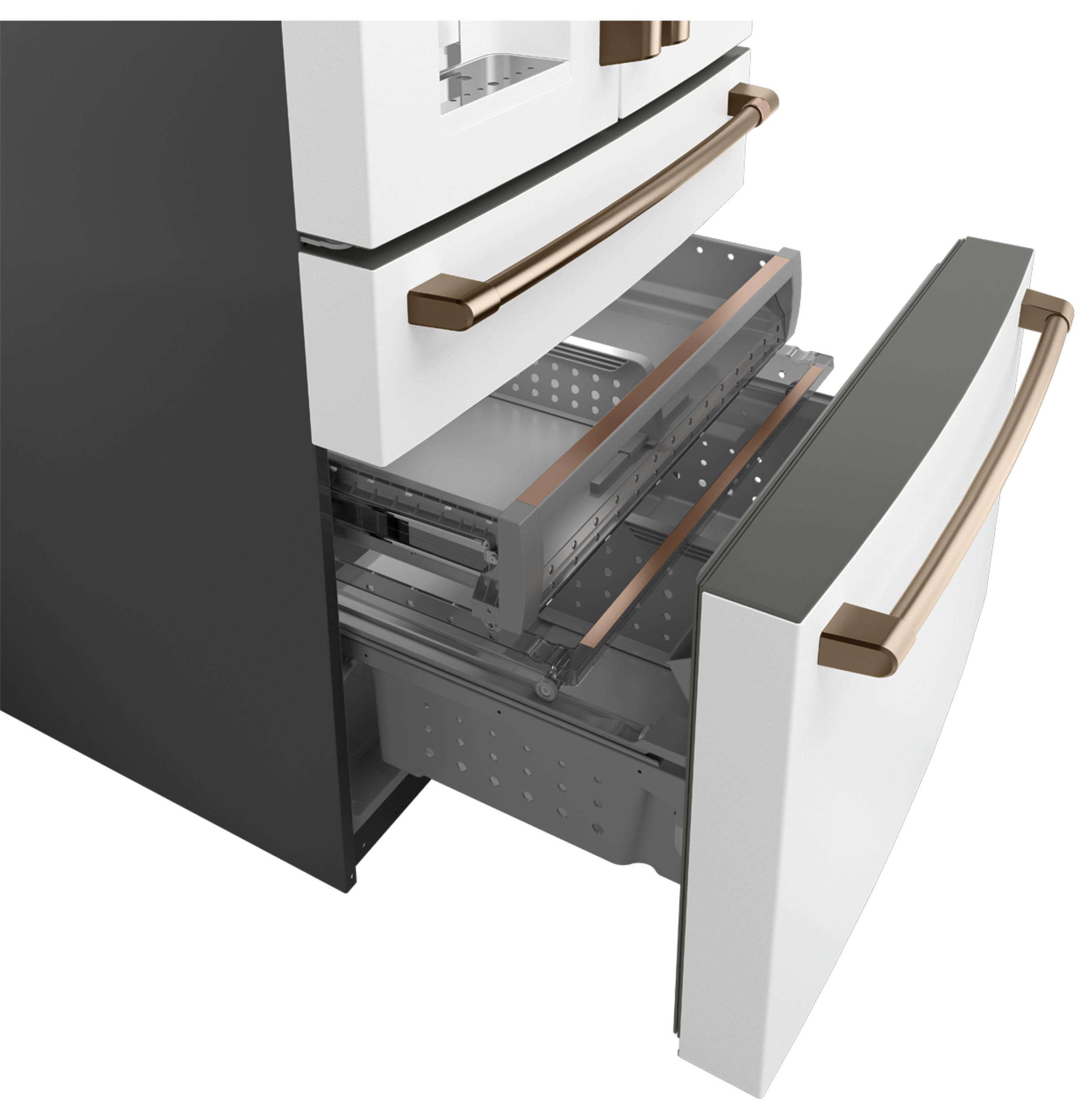 Model: CVE28DP4NW2 | Cafe Café™ ENERGY STAR® 27.8 Cu. Ft. Smart 4-Door French-Door Refrigerator