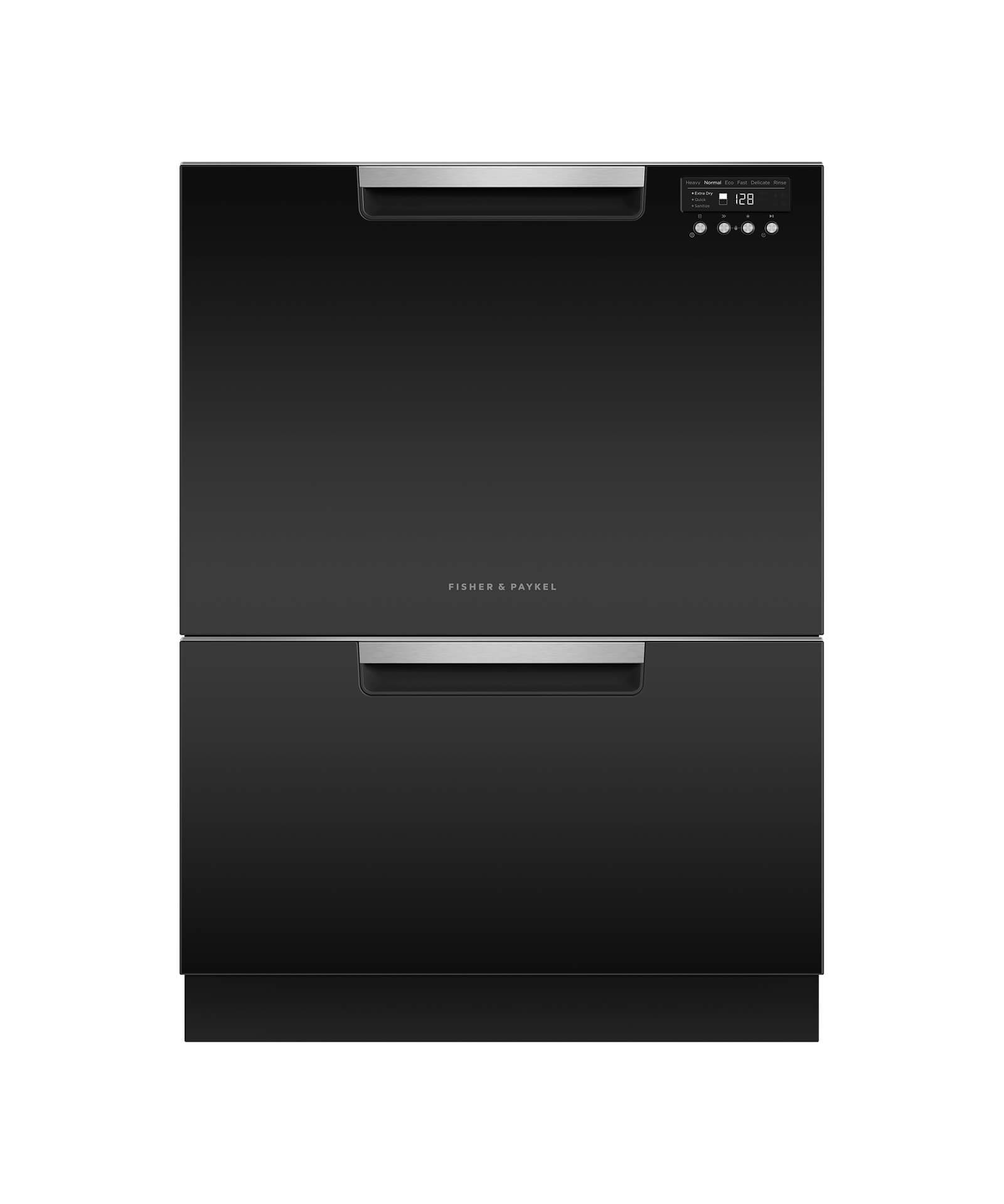 Model: DD24DCTB9_N | Fisher and Paykel Double DishDrawer™, 14 Place Settings, Sanitize (Tall)