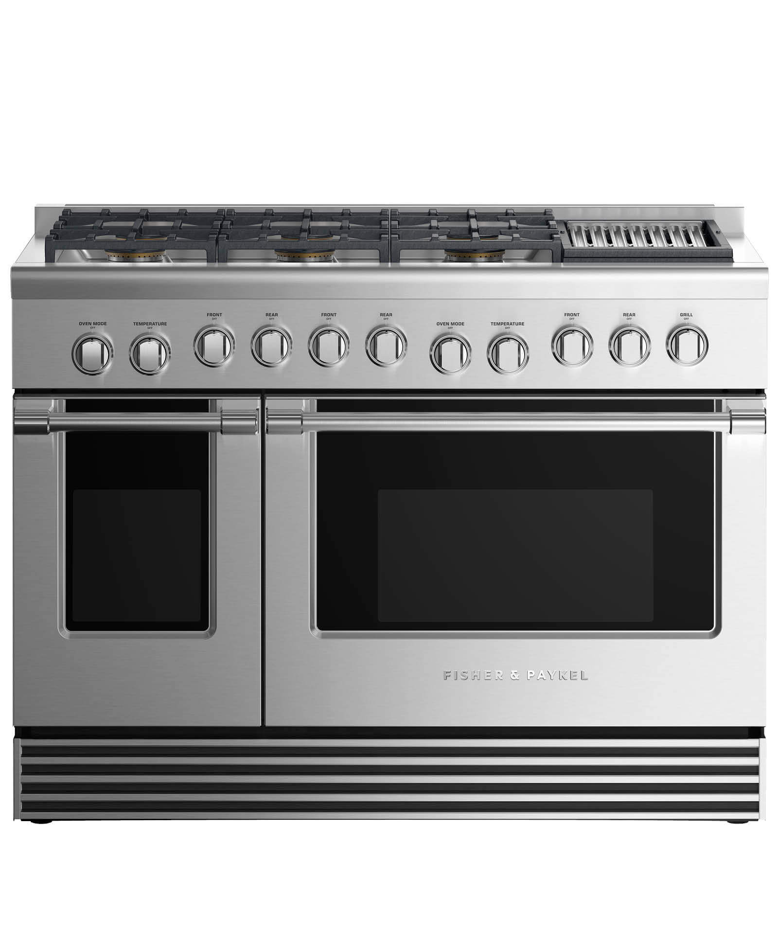 "Fisher and Paykel Dual Fuel Range 48"", 6 Burners with Grill"