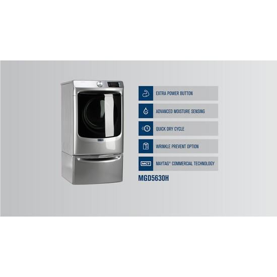 Model: MGD5630HW | Maytag Front Load Gas Dryer with Extra Power and Quick Dry cycle - 7.3 cu. ft.